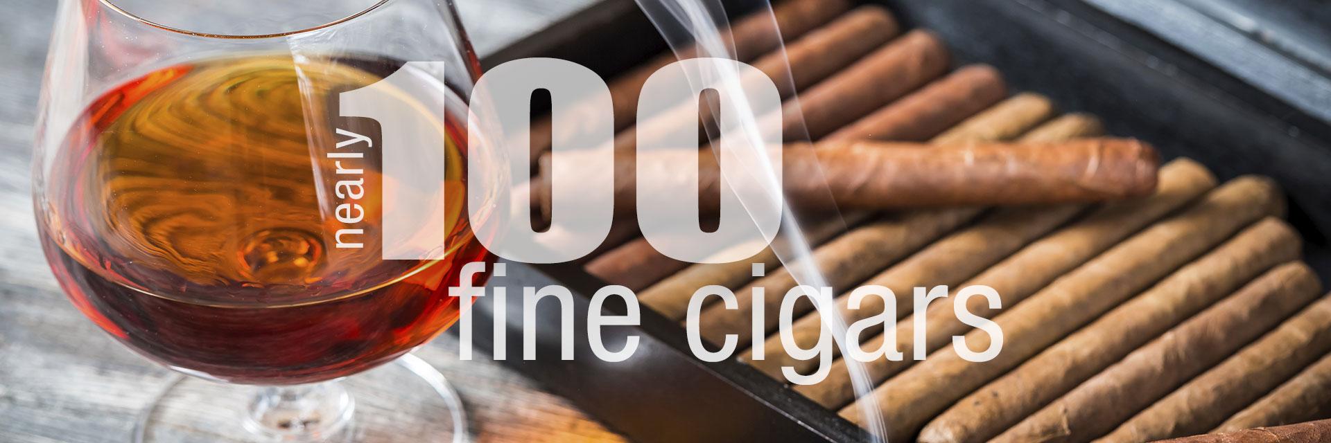 Nearly 100 Fine Cigars